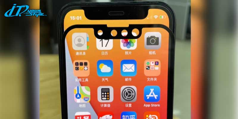เผยภาพหลุดฟิล์มกันกระแทก iPhone 13 ชี้มีรอยบากเล็กลงกว่าเดิม